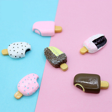 New 5PCS Cute Mini Artificial Ice Cream Slime Clay Charm Beads Doll House Decoration Funny Children Toys Slime DIY Lizun Gift E