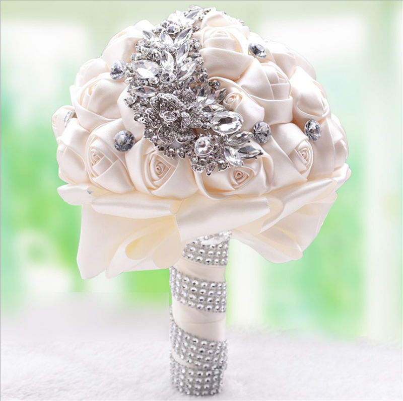 Bridal Bouquet Wedding party flowers bouquet fake home decoration emulation wedding
