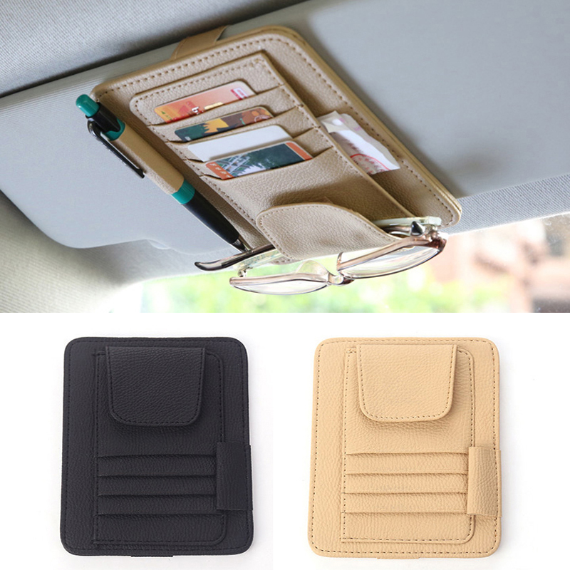 1x Car Storage Card Holder Car Organize Box Bag For Ford Focus 2 1 Fiesta Mondeo 4 3 Transit Fusion Kuga Ranger Mustang KA S-max