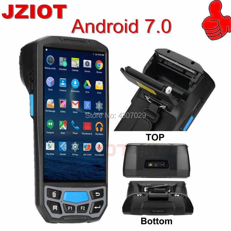 2019 Nieuwste Ontwerp Draadloze Bluetooth Printer Handheld Terminal Pda Android Mobiele Camera Barcode Scanner