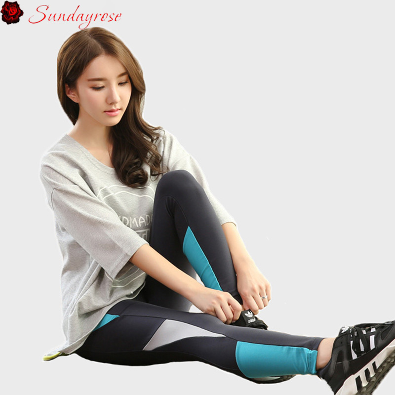 ФОТО 2017 Spring Summer Two Pieces Yoga Sets Half Sleeve T-shirt + Tights Leggings Fitness Tracksuits Exercise Running Suits Girls