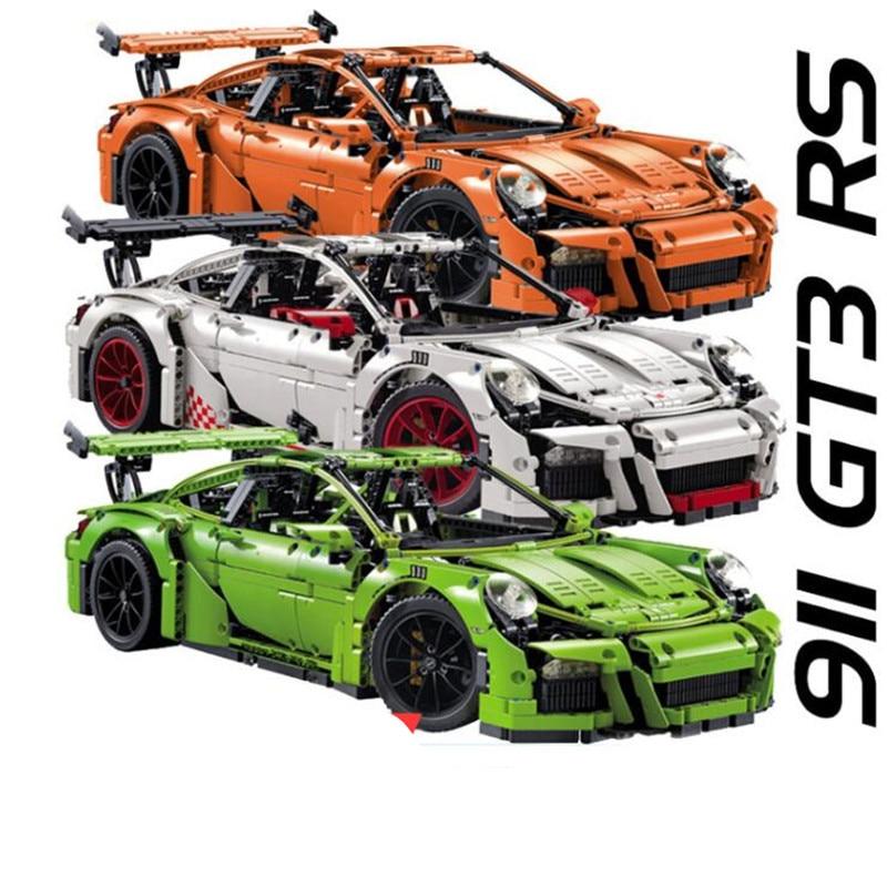 Technic Series The Decool 3368 ABC 2726pcs Chrome rims plating hub White/Green/Orange Building Blocks Bricks car legoing 42056