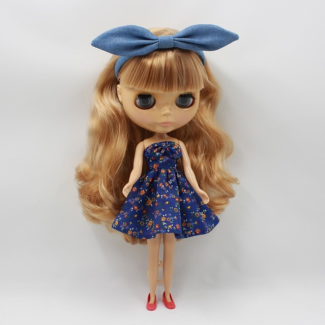 ICY Neo Blythe Doll Brown Curly Hair Regular Body 30cm