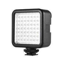 WS W49 Mini LED panneau lumineux caméra Studio photographique caméscope éclairage vidéo 6000k avec support de chaussure pour Canon Nikon Sony