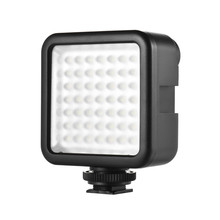 WS W49 Mini Panel LED Light Camera Studio kamera fotograficzna oświetlenie wideo 6000k z uchwytem na buty do Canon Nikon Sony