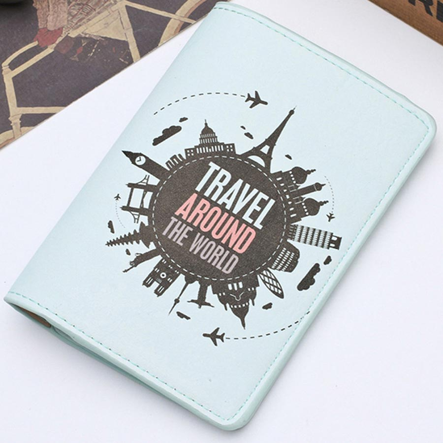 Zoukane New Cover Travel Passport Cover Card Case Women Men Travel Credit Card Holder Travel ID&Document Passport Holder CH02E