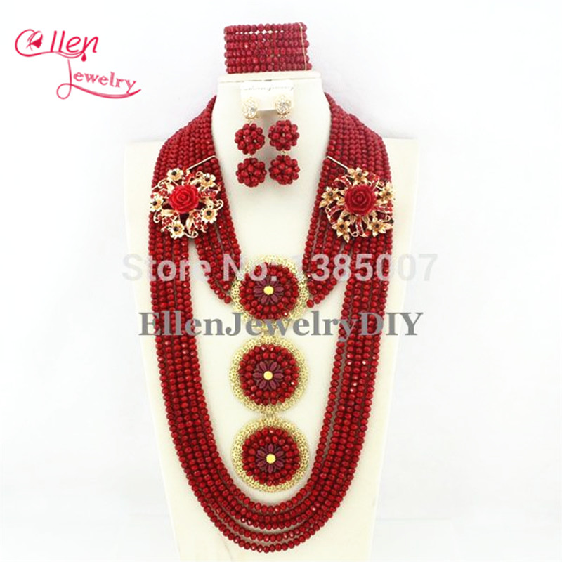 Red African Wedding Crystal Set African Wedding Beads Crystal Jewelry Set African Jewelry Set Nigerian Jewelry Set E1198 african symbolism