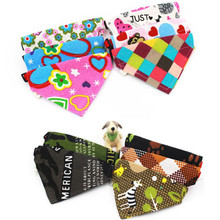 Adjustable Dog Cat Cotton triangle Towel Scarf Shawl Variety Of Patterns Jun27 Professional Factory price Drop Shipping