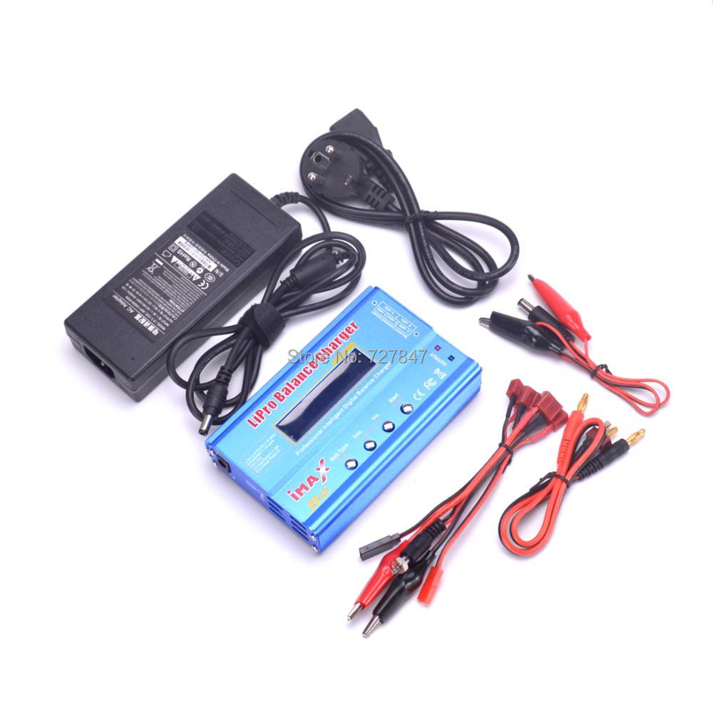 New iMAX B6 LCD Screen Digital RC Lipo NiMh Battery Balance Charger  (80W) + AC Converter Adapter DC 18.5V 3.5A ocday 1set imax b6 lipo nimh li ion ni cd rc battery balance digital charger discharger new sale
