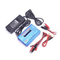 New iMAX B6 LCD Screen Digital RC Lipo NiMh Battery Balance Charger (80W) + AC Converter Adapter DC 15V 6A