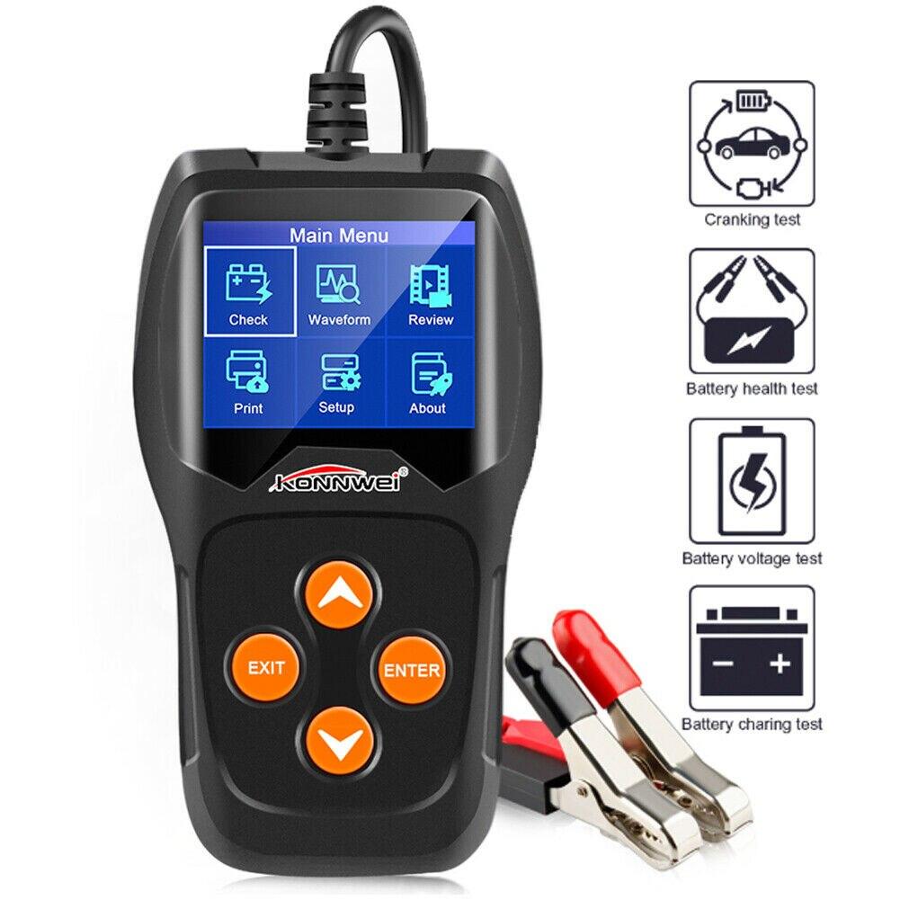 12V Load BatteryTester Digital Car Battery Analyzer Multi Language For KONNWEI KW600