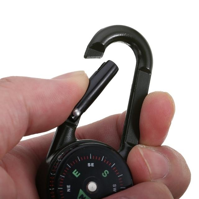 Multifunctional Mini 3in1 Carabiner Compass 6
