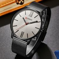 Curren Watches Men Brand Luxury Black Steel Quartz Mens Watch Men S Fashion Casual Sport Clock