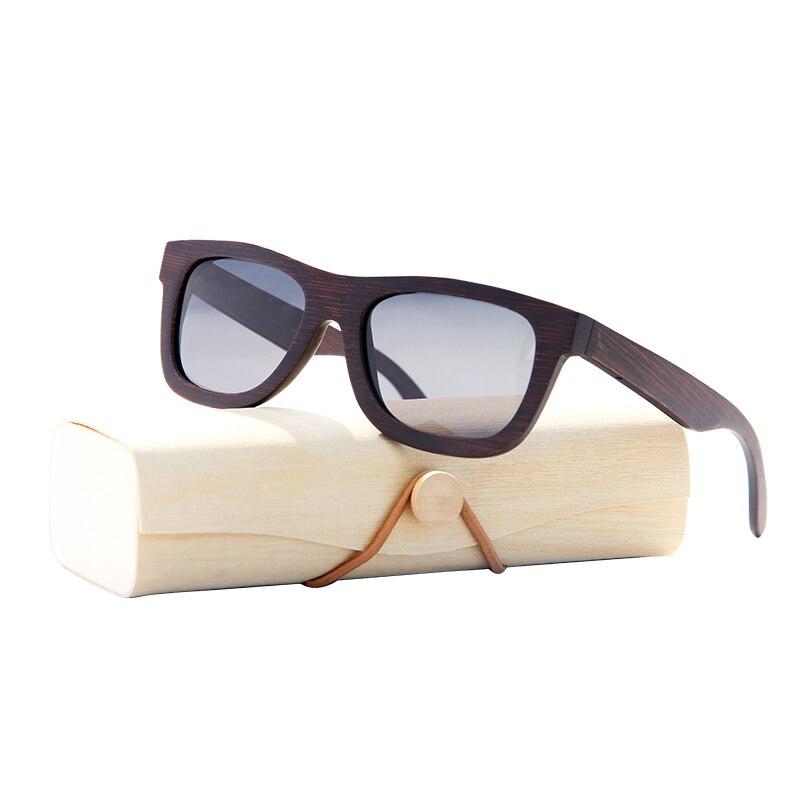 Óculos de sol de bambu Polarizada feminino armação de bambu óculos de sol  das mulheres da marca Marrom Caixa De Madeira Praia Anti-UV óculos de  Condução cc01e1ef67