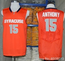 Mens  15 Carmelo Anthony Syracuse Orange College Throwback JERSEYS Retro  BASKETBALL JERSEY New Material Top 0e020efd6