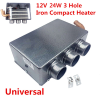 Mayitr Hot Sale 12V 24W Portable Compact 3 Hole Auto Car Heating Heater Defroster Demister Driving Car Styling