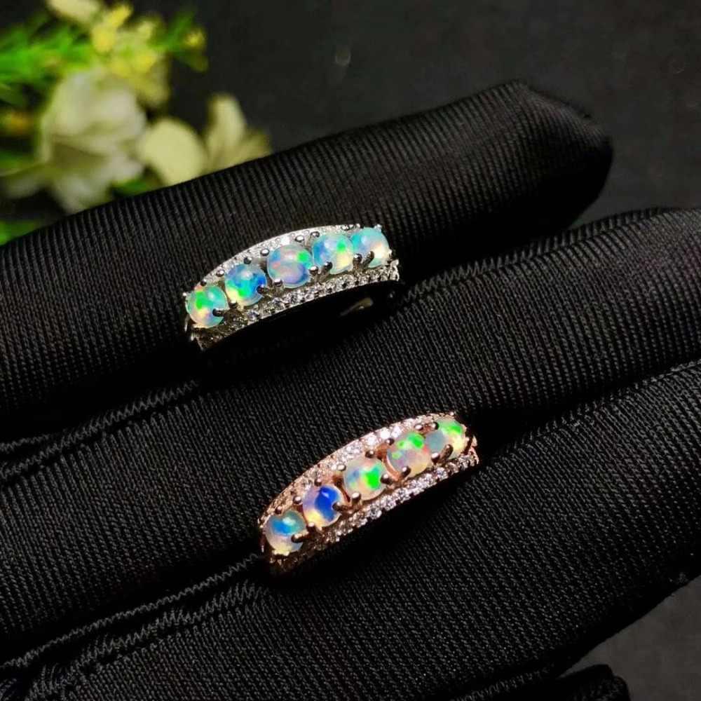 Shilovem 925 סטרלינג כסף טבעי אופל טבעת תכשיטים להתאמה אישית נשים טרנדי חתונת פתוח סיטונאי yhj030301ago