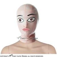 Baby Pink Com Branco E Preto Sexy Capa De Látex Com Boca Nariz Aberto Zip Na Parte de Trás do Globo Ocular de Borracha Máscara TT-0120