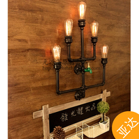 Edison industrial retro wall lamps Water pipes original large source pipe wall lamp design section long nostalgia wall light