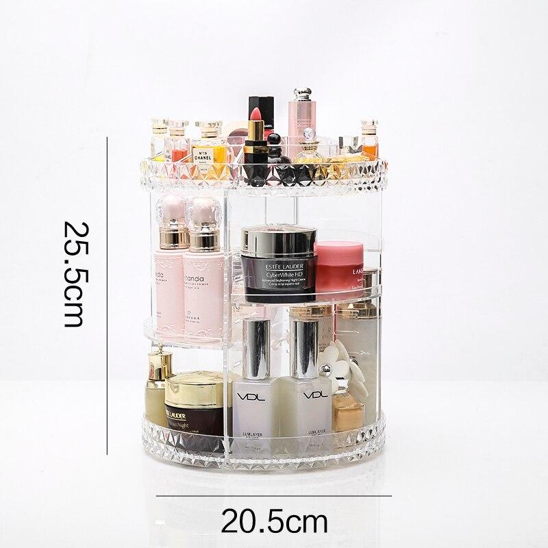 Maquillage Organisateur 360 Rotation organisateur cosmétique coiffeuse organisateur Boîte De Rangement De Bureau rotation contenant 2 styles choisir