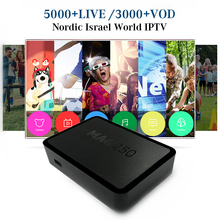 Best MAG250 IPTV Box with 4800+ Live Channels Nordic Scandinavia Sweden Norway Finland Denmark IPTV Free Smart Linux system Box(China)