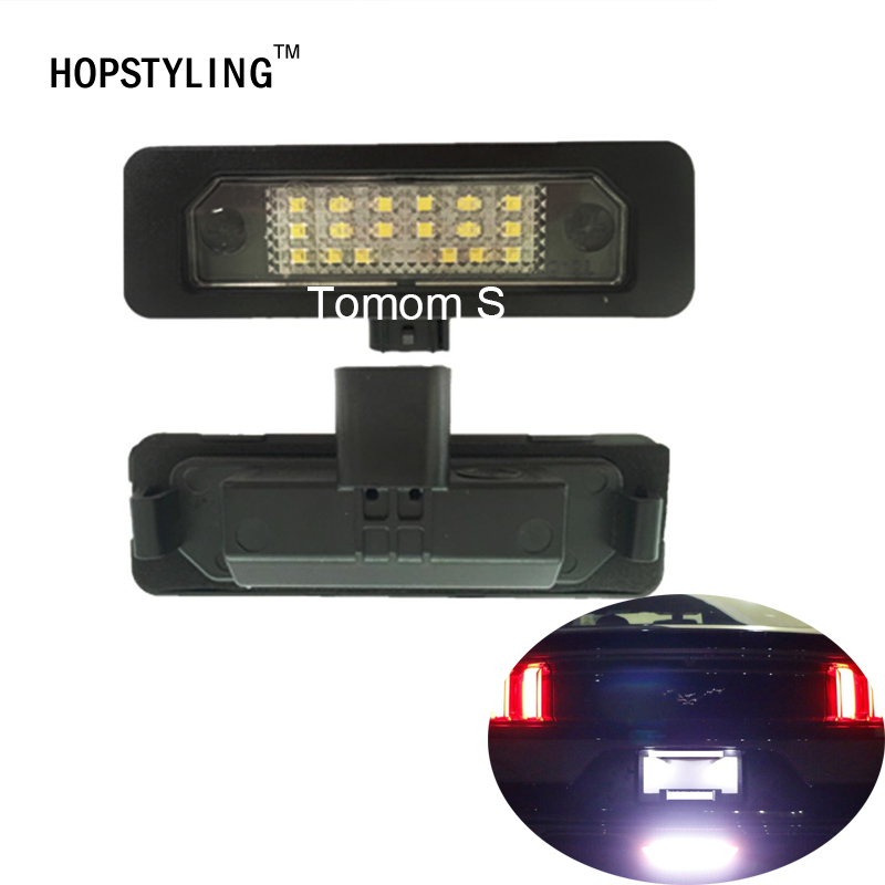 Hopstyling 2x 18SMD Led Number Plate Light For Ford Mustang 2010 Flex Taurus Focus Fusion Mercury Led License Plate Light Bulb 2pcs car led license plate lights 12v white smd3528 led number plate lamp bulb kit for ford focus c max 03 07