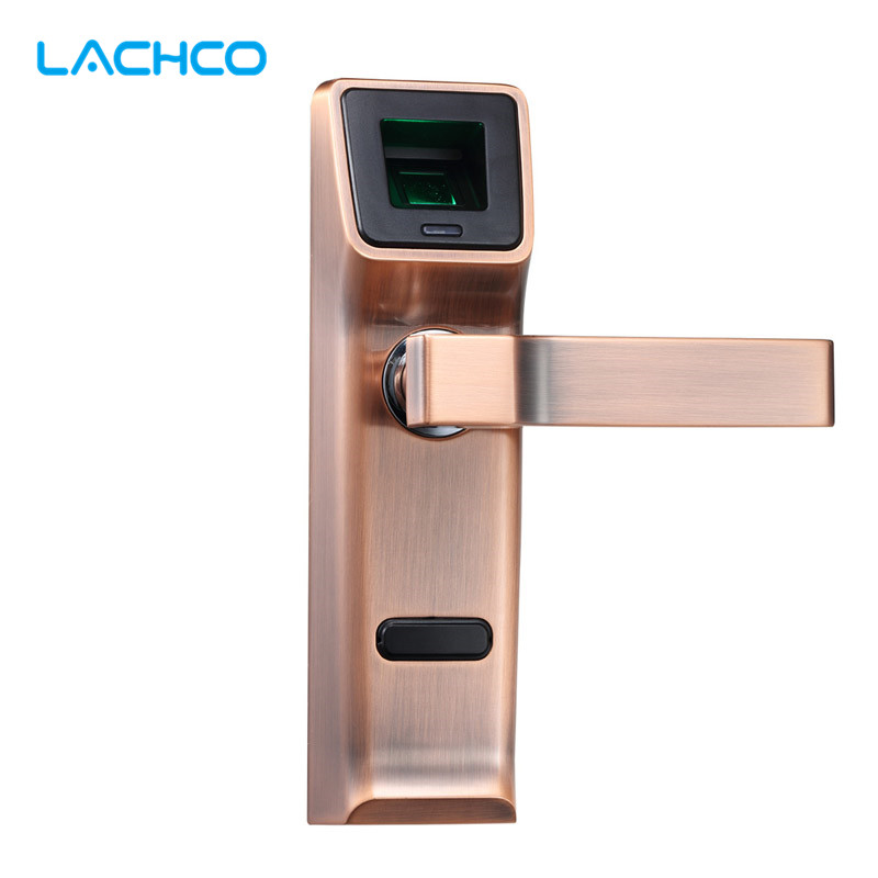LACHCO Biometric Fingerprint Door Lock Intelligent Electronic Lock Deadbolt Keyless Smart Entry L16085RC one for five electronic door lock bluetooth biometric smart fingerprint electronic lock for outdoor entry door