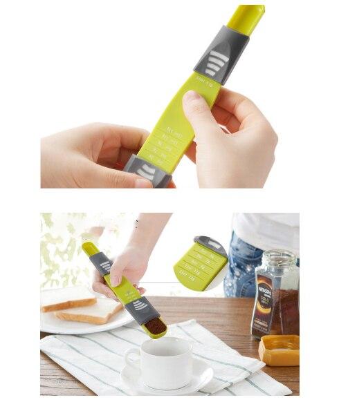 Kitchen Meter Spoon measur spoon cup coffee bake 8 grades Bread tool Coffee meter Food scale Adjustable kitchen appliance
