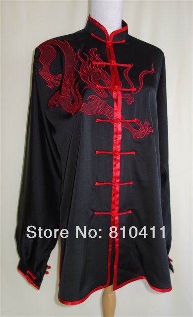 customized mens dragon embroidery KungFu suit ,Taichi Uniform ,comfortable uniform show - Ancient China Wushu store