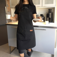 2017 neue Leinwand Schürze für Frauen Außen BBQ Senior Bib Küche Reinigung Schürze Männer Kochen Restaurant Kellnerin Benutzerdefinierte Print Logo