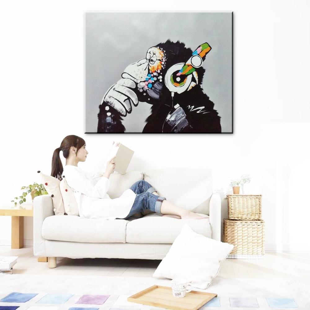 Dekorasi rumah simulasi lukisan minyak di atas kanvas, Print Animai - Dekorasi rumah - Foto 3