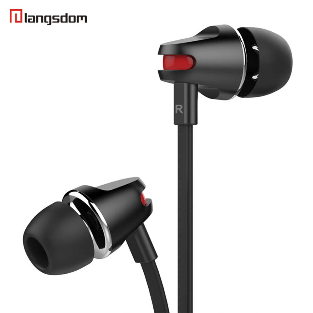 Langsdom JV23 In Ear Earphone for a Mobile Phone Stereo Noodle Line Headsets with Mic Wire Earbud for Xiaomi iPhome Computer Mp3 цена и фото