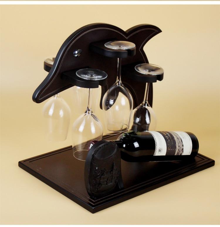 ୧ʕ ʔ୨D creativo decoración del hogar estante del vino europeo ...