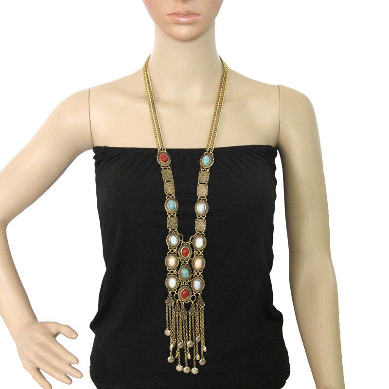 Bohemian Style Long Maxi Section Of Popular Tassel Necklaces & Pendants Female Accessories Necklace Fashion Jewelry