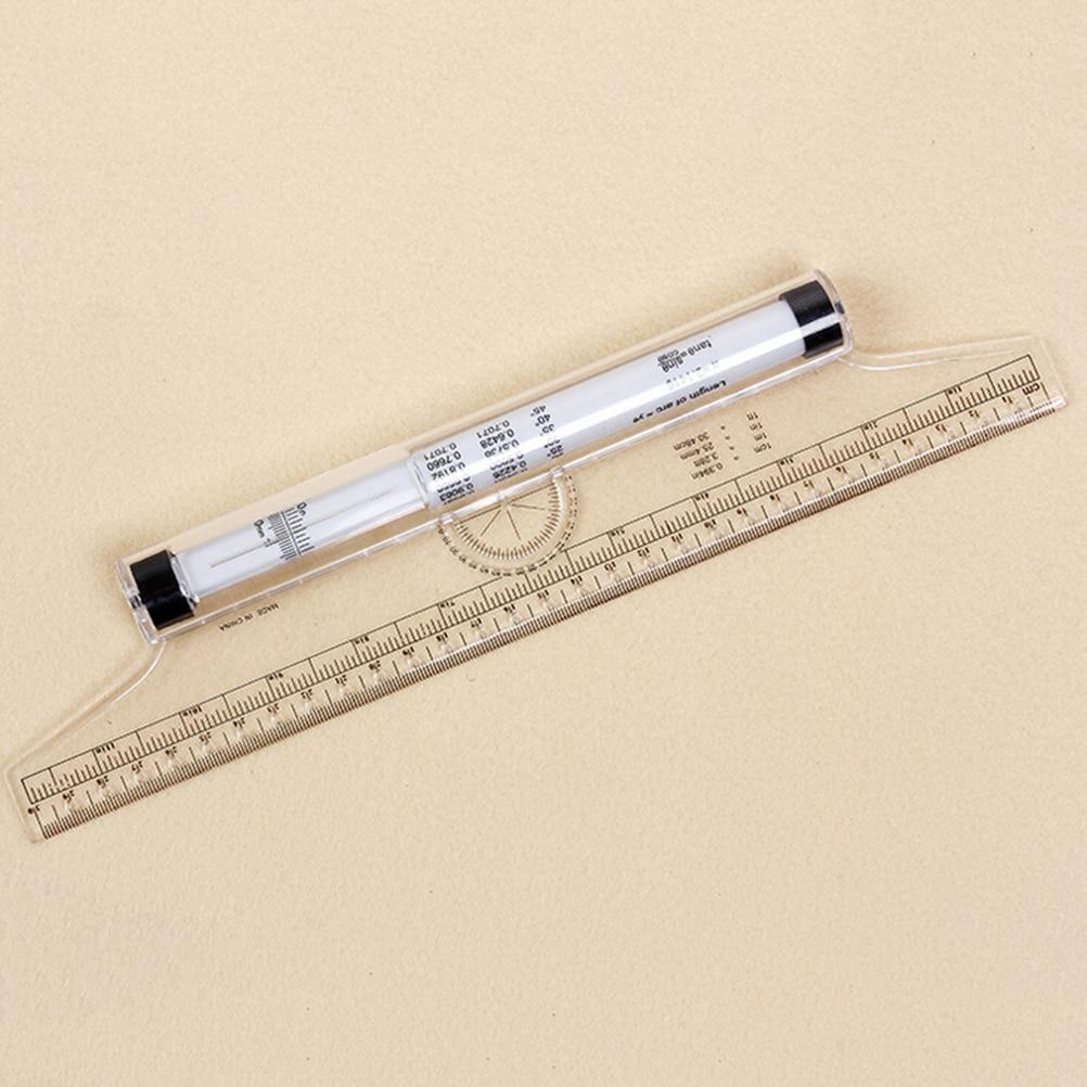 30cm Universal Parallel Rulers Angle Ruler Balancing Scale Drawing Multi-purpose Rolling Ruler