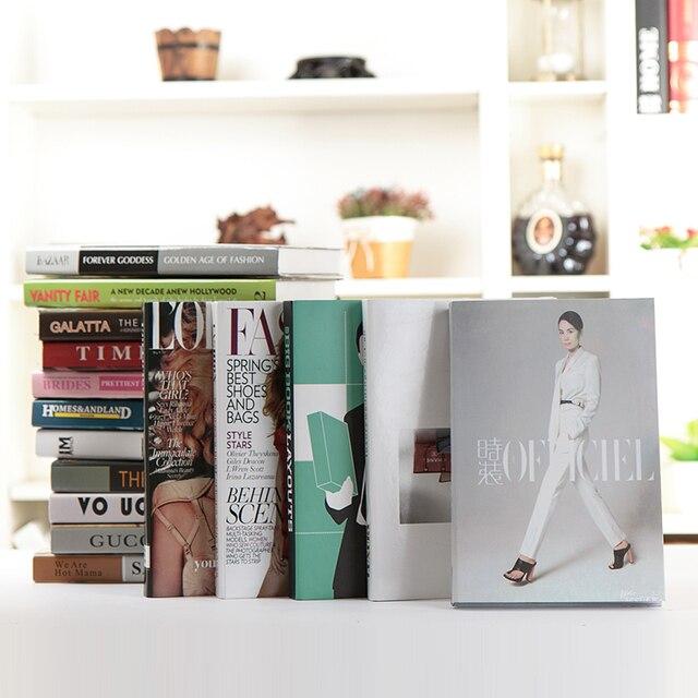 10PC Magazine Simple Fake Book Decoration Shuppim Simulation Bookcase Bookshelf Photography Clothing Store Bar