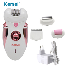 Kemei 2530 4 in 1 chargeable Electric hair shaver Epilator lady shaver Hair Clip