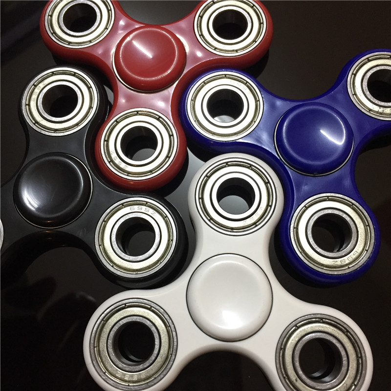 4 Color Hand Spinner Triangle DIY Puzzle EDC Tri Spinner Fidgets Toy For Autism and ADHD