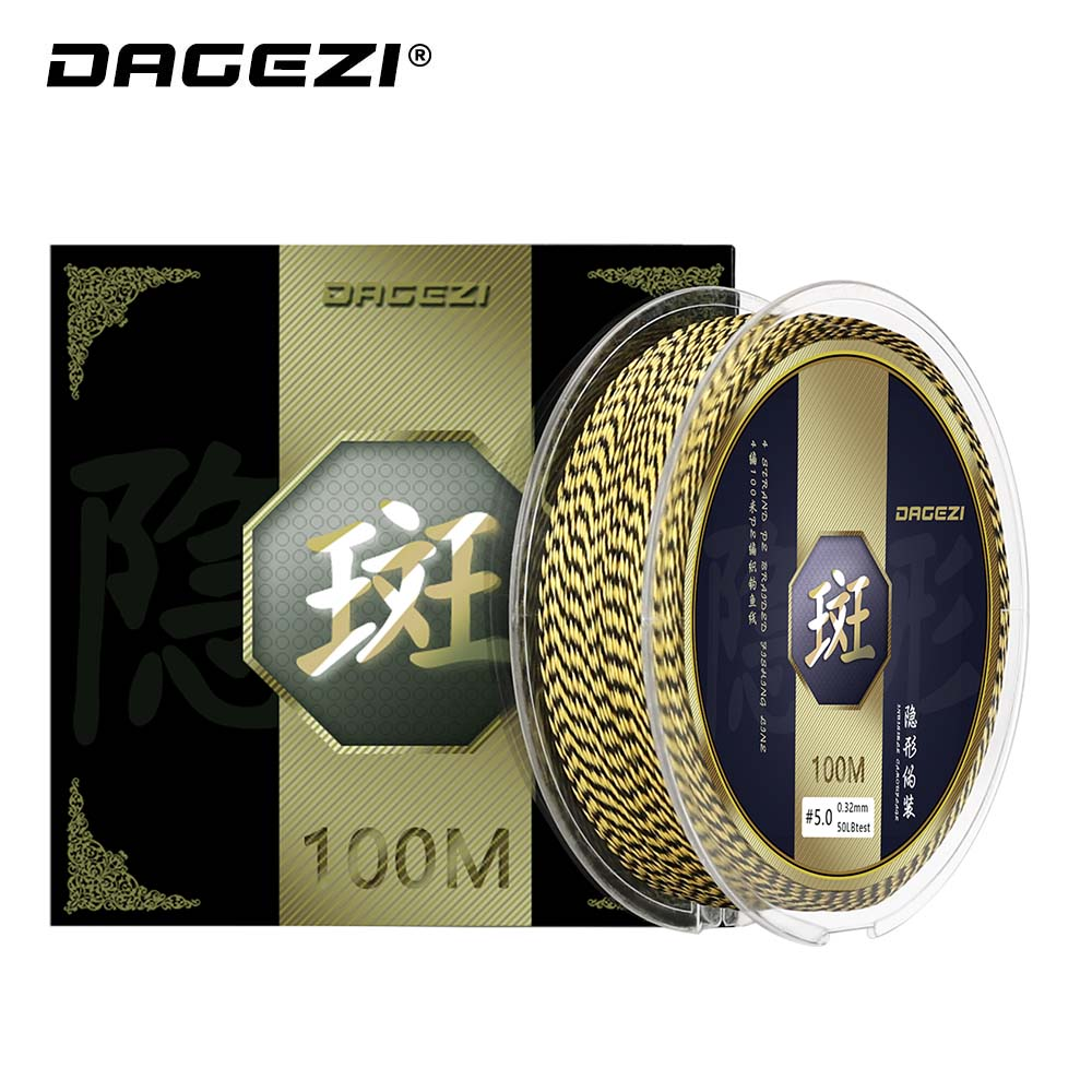 DAGEZI Fishing-Line Multifilament 4strand Pe Braided Super-Strong 100M 110yds 25-30 40-50-80lb title=