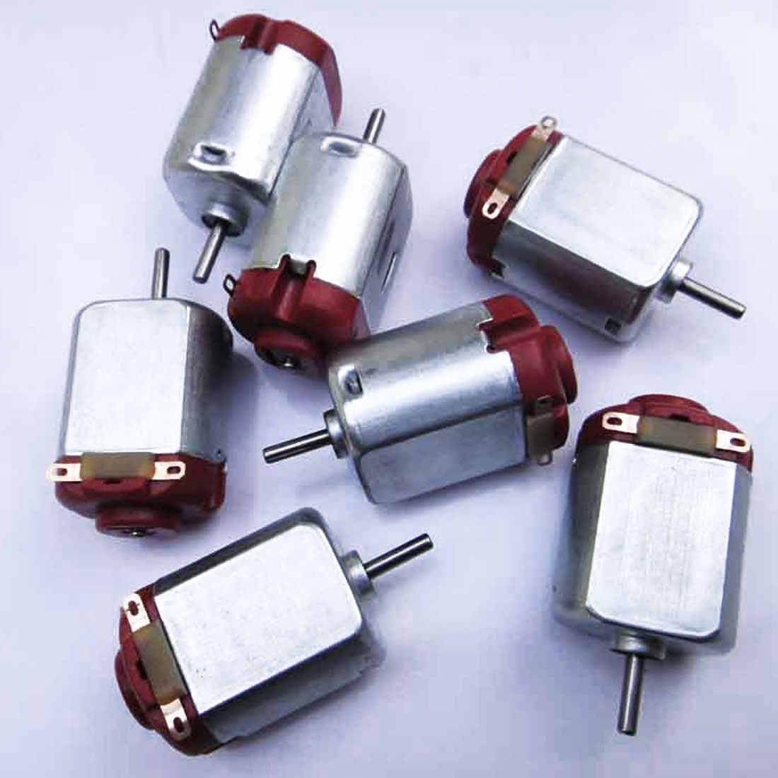 العلامة التجارية الجديدة أربع عجلات محرك 3V موتور تيار مباشر صغير 130 موتور 16500 RPM لتجربة علمية لتقوم بها بنفسك لعبة السيارات الذكية