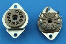 Free Shipping 10PCS GZS9 F new 9 pin tube sockets bakelite base suitable for 12ax7 12au7