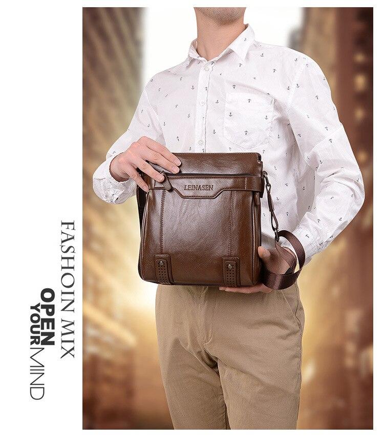 Moda Saco do Mensageiro Dos Homens Sacos