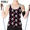 Verão Novas Mulheres Esporte Colete Estilo Crânio 3D Vest Tops Zonbime Osso Camisola Sexy Regata Zombine Elegante Quick Dry do punk