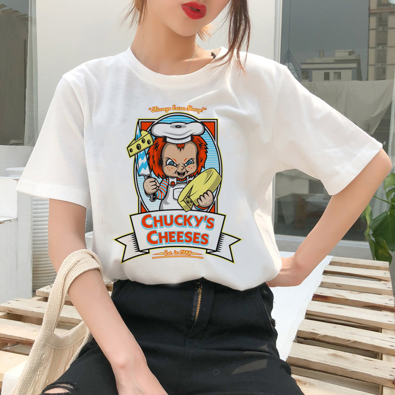 chucky t shirt Horror High cool women top Quality new streetwear tee t-shirt fashion ulzzang female shirts femme new tshirt 4
