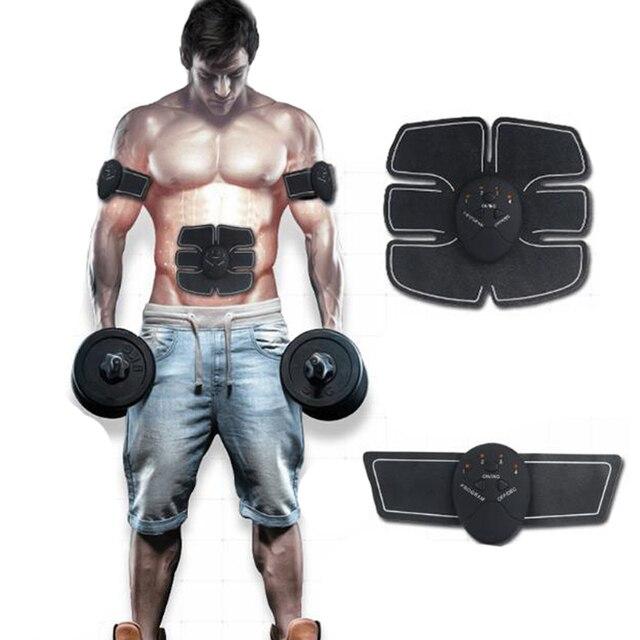 2018 Sem Fio Estimulador Muscular EMS Corpo Emagrecimento Beleza M quina Abdominal Exercitador Muscular Estimula o