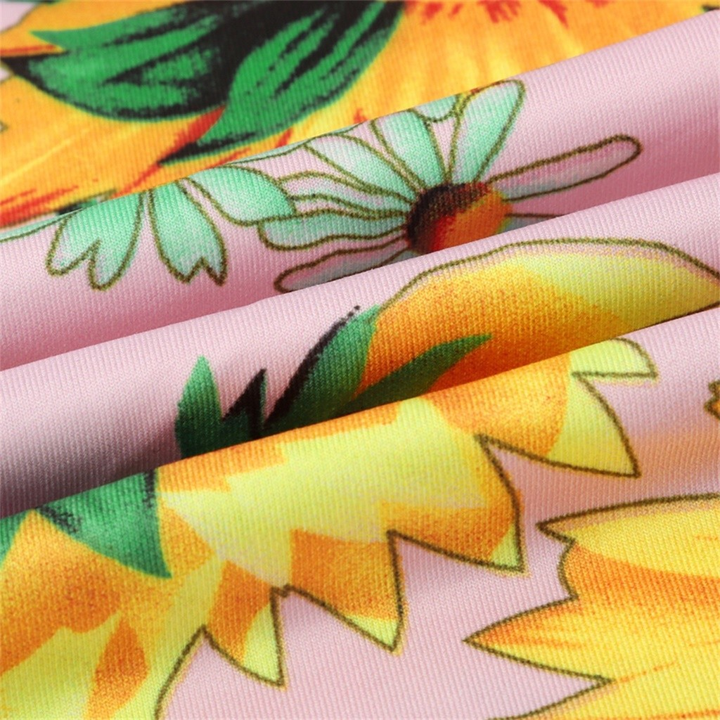 HTB1WgFnVVzqK1RjSZFvq6AB7VXaV Sexy Womens Sunflower Summer Bodycon Dress Sleeveless Printed Holiday Party Short Mini Dresses Ruffle Summer Dress 2019 Vestido