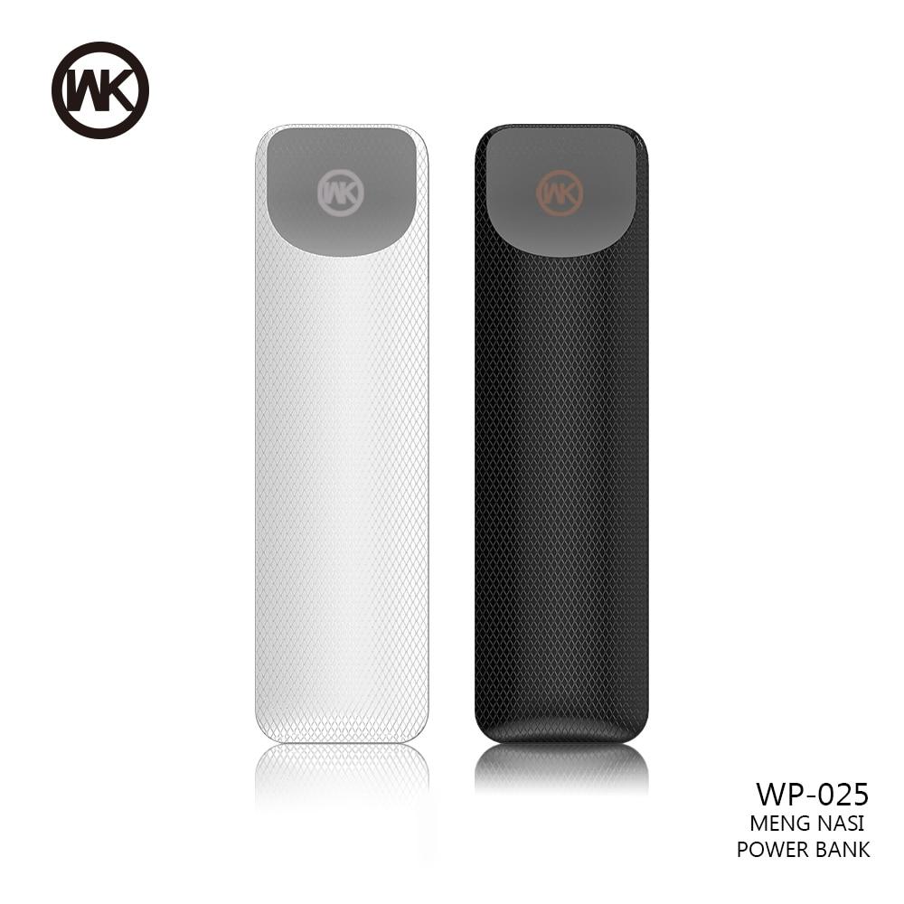 WK Mini Power Bank 2500mAh External Battery Charger Portable