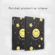 9.7 inch cartoon Painting Tablet Accessories Case for iPad 4