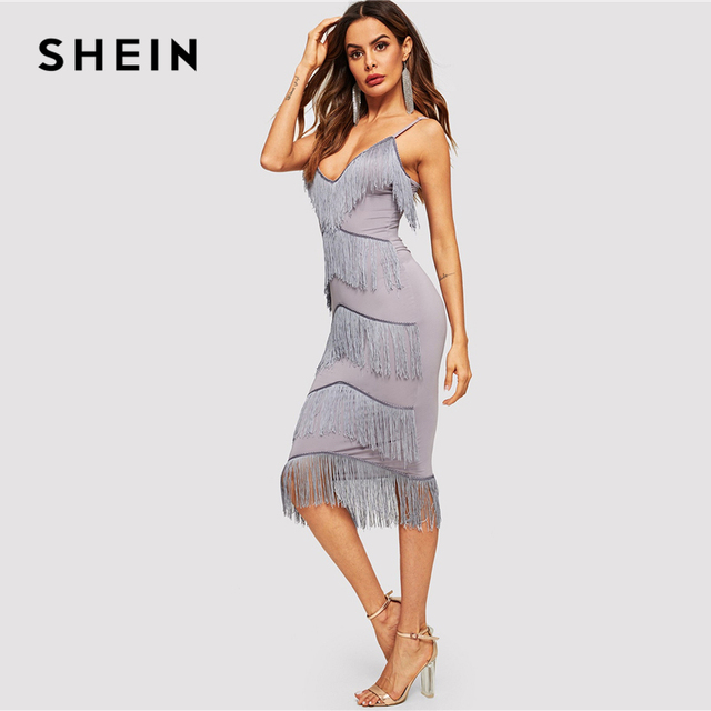 79cd668e359ff SHEIN Purple Elegant Layered Fringe Patched Fitted Cami Party Dress ...