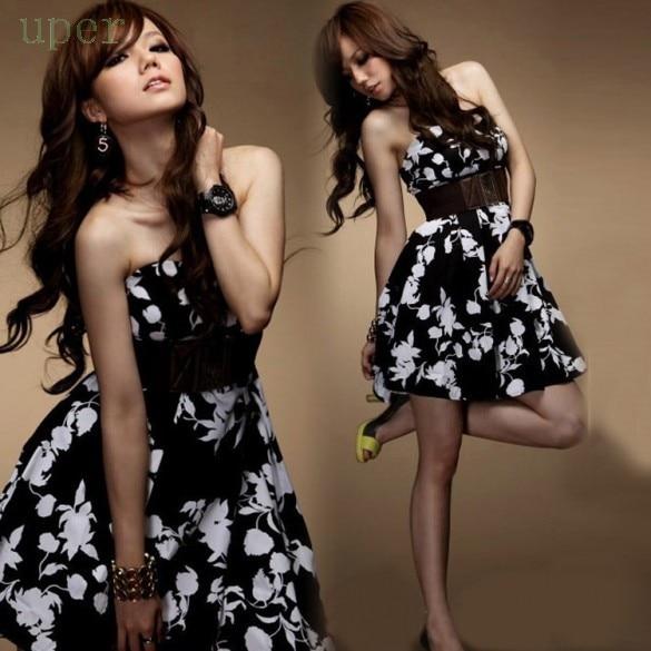 Black and White Tube Maxi Dress